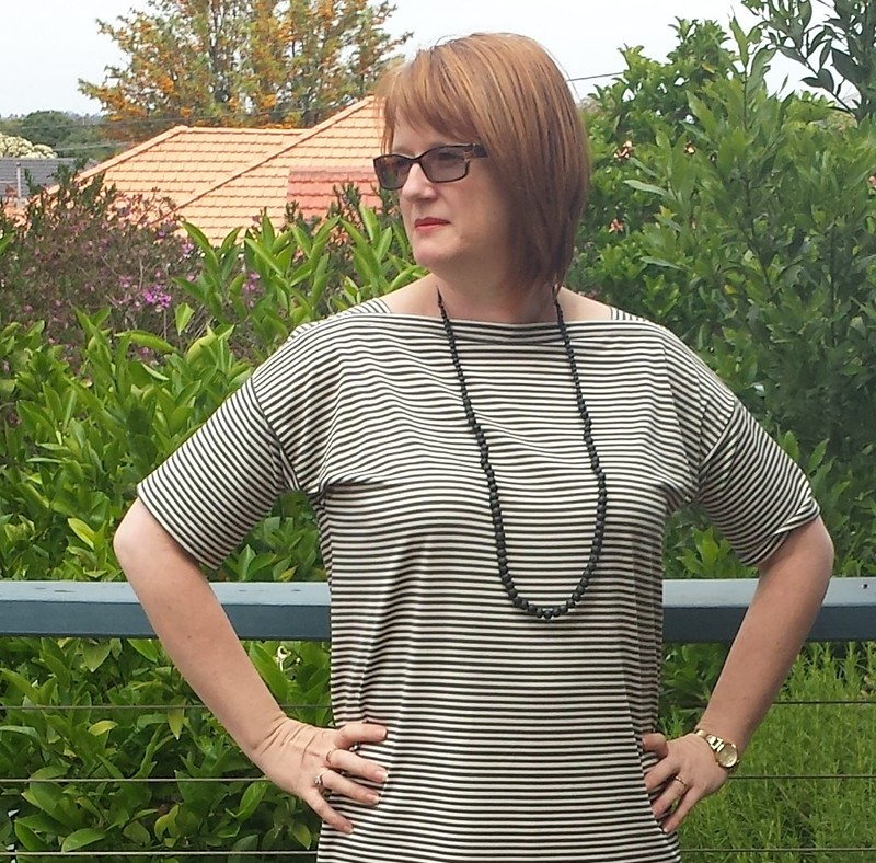 Sailors Top as Dress by Marilla Walker in striped knit