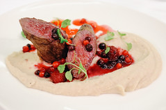 Deer fillet with Chestnut Purée and Wild Berries