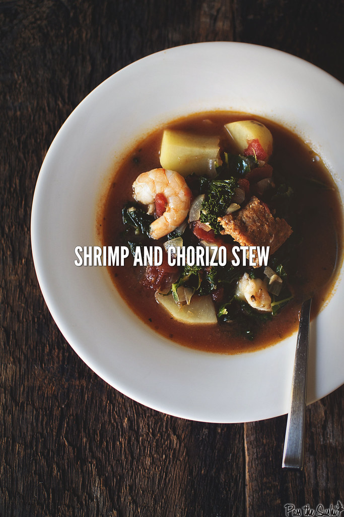 Shrimp and Chorizo Stew | GirlCarnivore.com