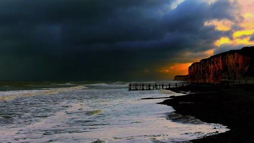 blue light sky seascape storm beach clouds sunrise coast pier waves cliffs fz200 kerkaya