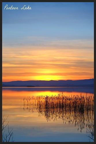 blue ireland sunset orange lake color water fuji fujifilm xe1