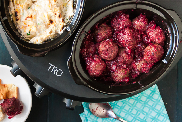 Cranberry and Red Wine Meatballs