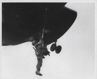 Marine is Lifted by Helicopter, August 1967