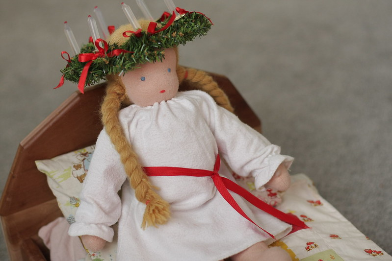 Santa Lucia outfit for C's doll