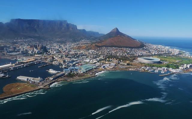 Ciudad del Cabo desde un helicóptero
