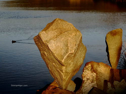 Estuary Rock Balancing, by George Alger