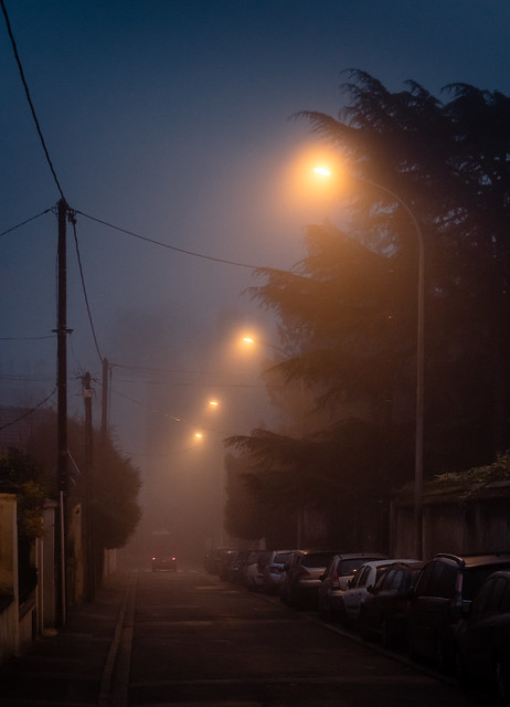Meudon, early morning, in the mist