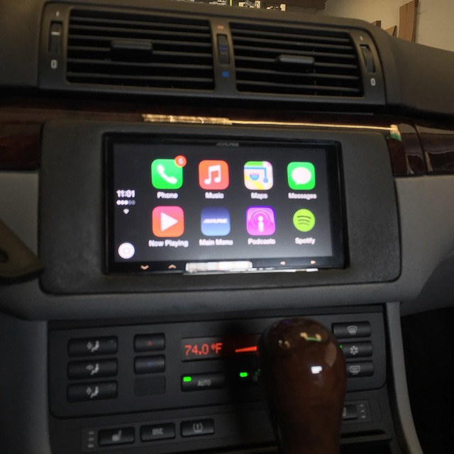 alpine 007 carplay radio in a bmw e46 3 series caraudio. Black Bedroom Furniture Sets. Home Design Ideas