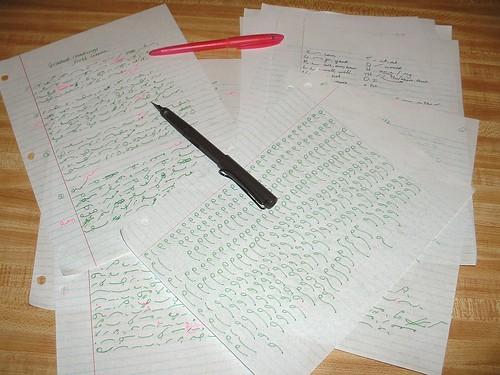 unit one shorthand practice
