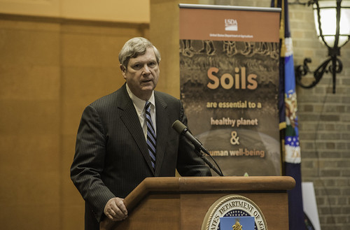 Agriculture Secretary Tom Vilsack at the U.S. Department of Agriculture's (USDA) Natural Resources Conservation Service (NRCS) celebration of the International Year of Soils event at USDA headquarters in Washington, D.C. USDA photo by Bob Nichols.