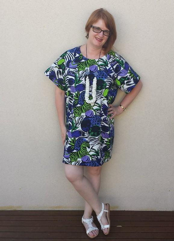 Pattern Fantastique Aeolian dress in linen from Darn Cheap Fabrics