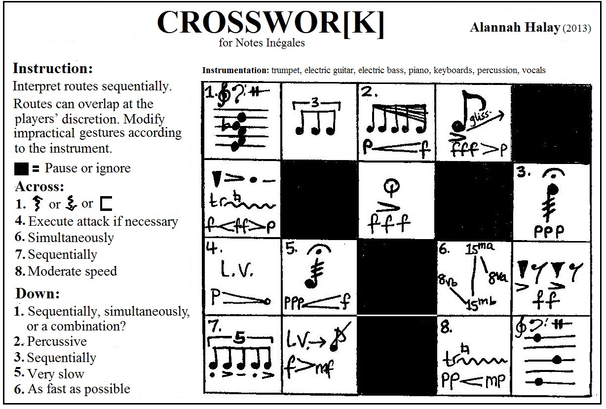 CROSSWOR[K] by Alannah Halay