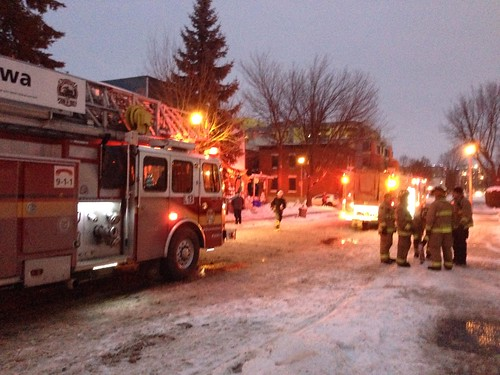 Special thank you to @OttawaFirePIO and @OttawaPolice for saving the day. @halyma and I are fine.