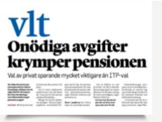 Onödiga avgifter krymper pensionen