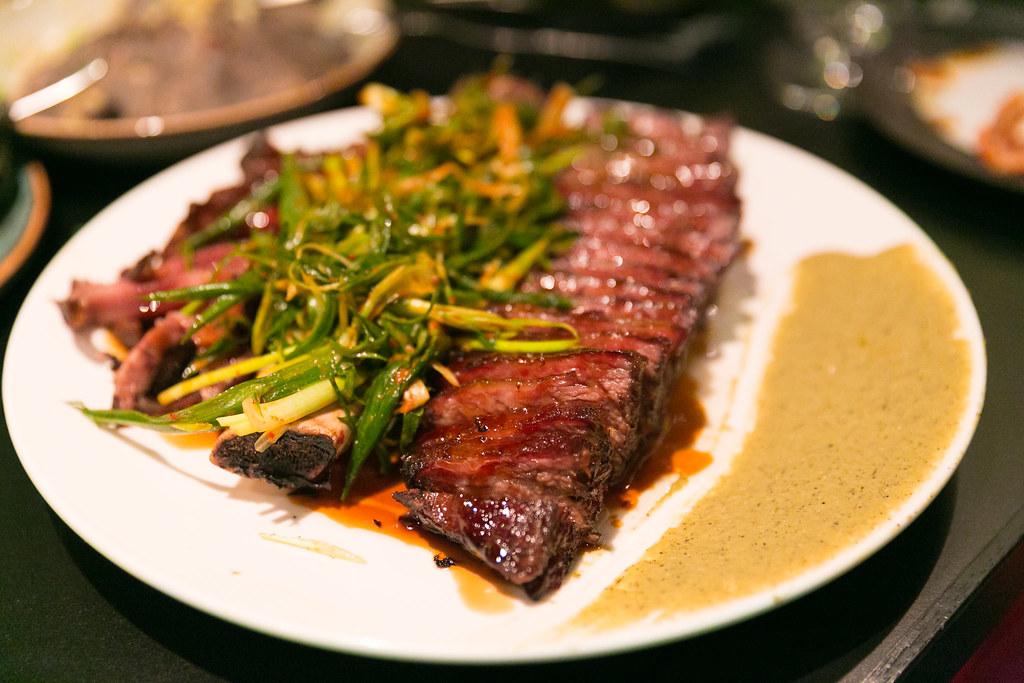 Wagyu short ribs with kimchi shallots