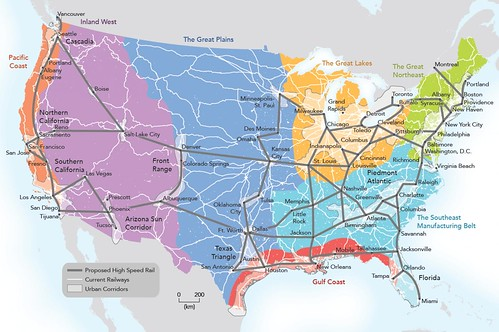 Economic geography of the US, Connectography book