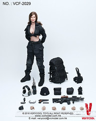VERYCOOL TOYS VCF-2029 Black Female Shooter - 21