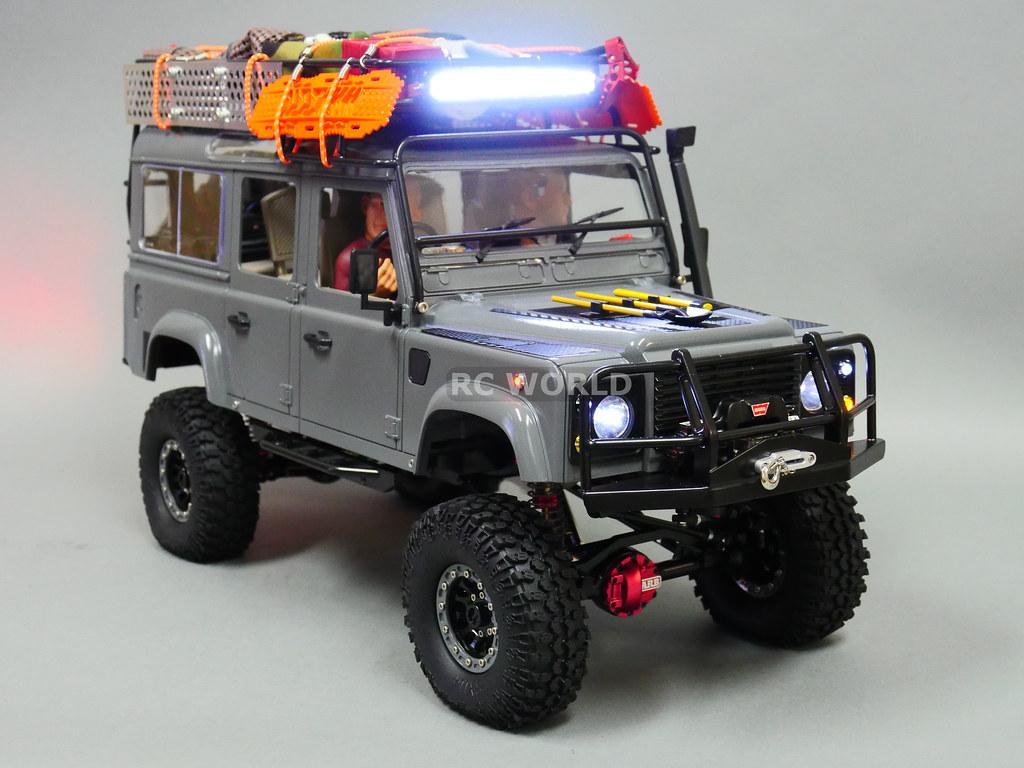 rc 1 10 land rover defender 110 camel trophy 4x4 w winch. Black Bedroom Furniture Sets. Home Design Ideas