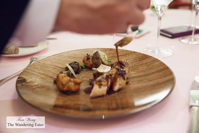 Guinea hen, hazelnuts, porcini mushrooms