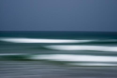 sea motion movement exposure waves slow pan