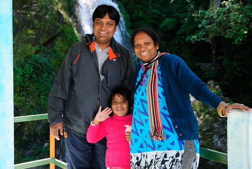 Rianna, Smita & me at Butterfly Waterfall