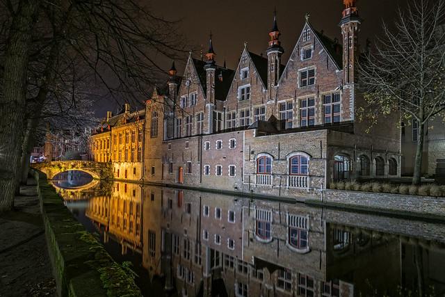 Night photography -  Brugge Reien, Belgium