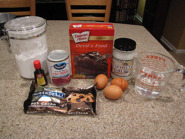 Cranberry Chocolate Cake Ingredients