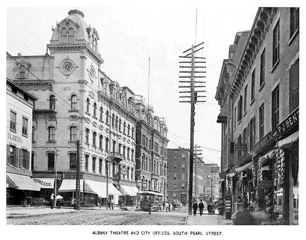 South Pearl  between  state and beaver with Howard st at corner  1891  albany ny