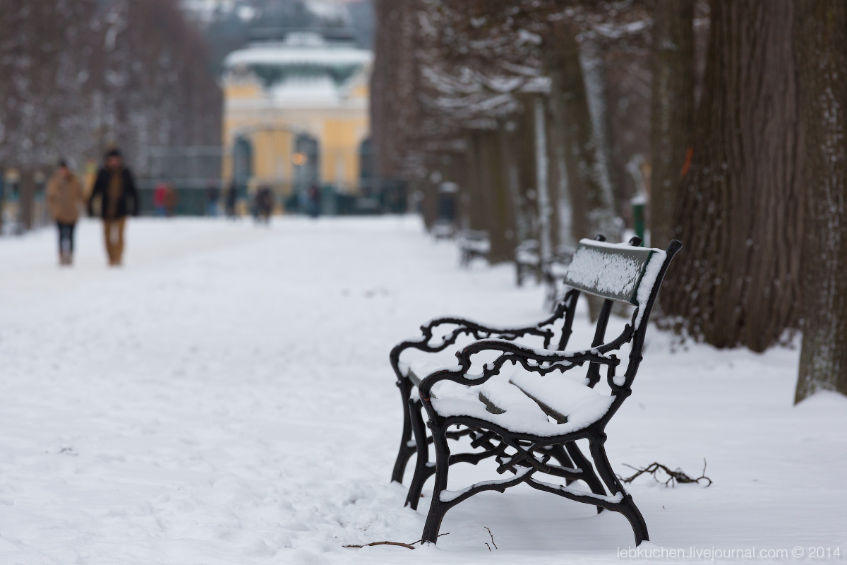 Schonbrunn in Winter. Зимний Шенбрунн