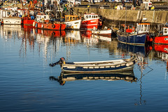 HOWTH - THE FISHING FLEET IS HOME FOR THE CHRISTMAS HOLIDAY REF-100989