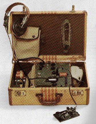 Radiotransmisor utilizado por la resistencia holandesa