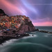 Sunset to Manarola ( Cinque Terre, Italy ) by Yannick Lefevre