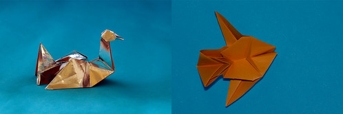"Origami 2 in 1: ""On the water""  AND  ""Under water"" (Herman van Goubergen)"