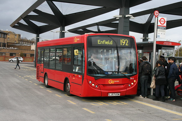 London General TEN5 on Route 192, Tottenham Hale Bus Station