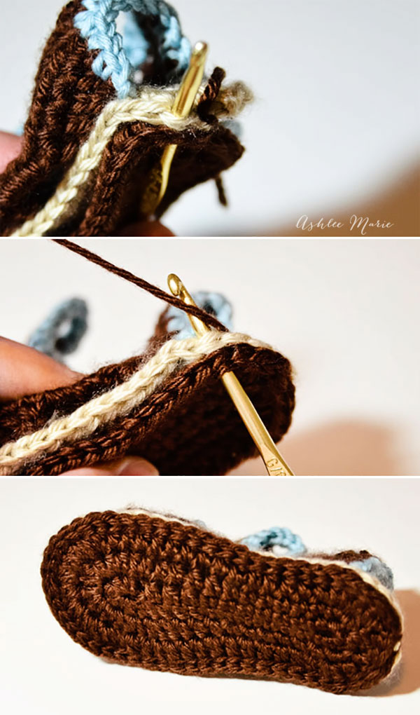 adding a second sole strengthens the sandals