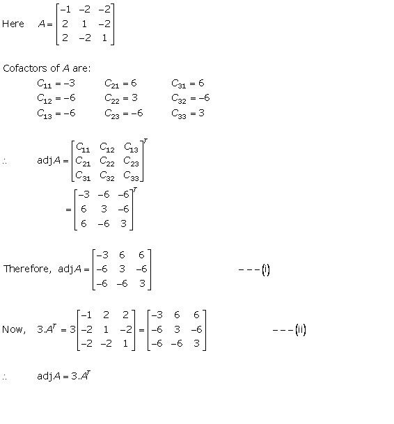RD Sharma Class 12 Solutions Chapter 7 Adjoint and Inverse of Matrix Ex 7.1 Q5