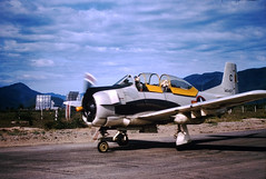 aviation, military aircraft, airplane, propeller driven aircraft, vehicle, north american t-28 trojan, propeller, aircraft engine,