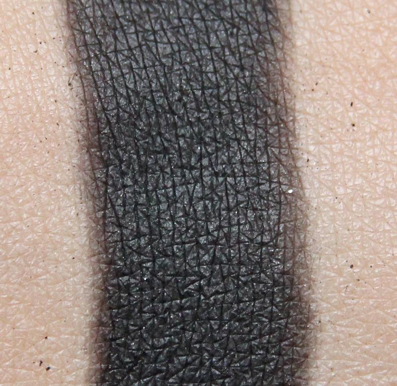Claudia midnight black eyeshadow single swatch