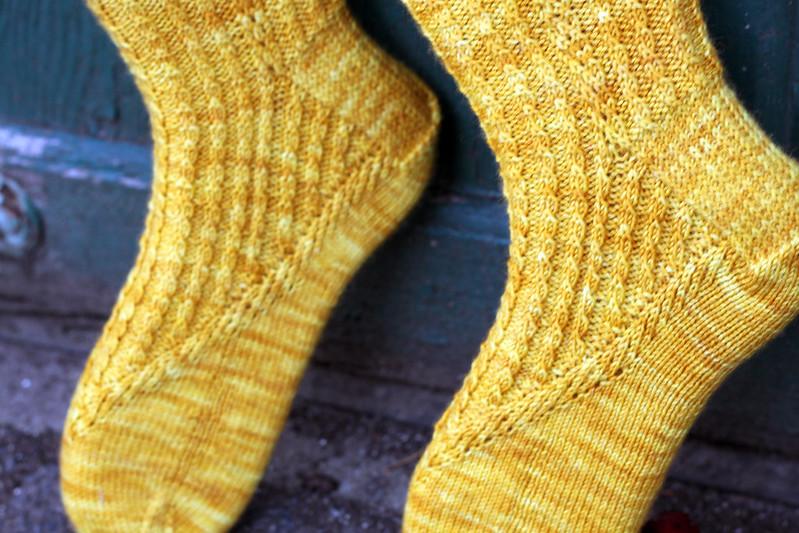 Frost Aster Socks