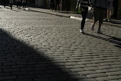 sidewalk, road, cobblestone, walkway, shadow, street, flooring, pedestrian, infrastructure,