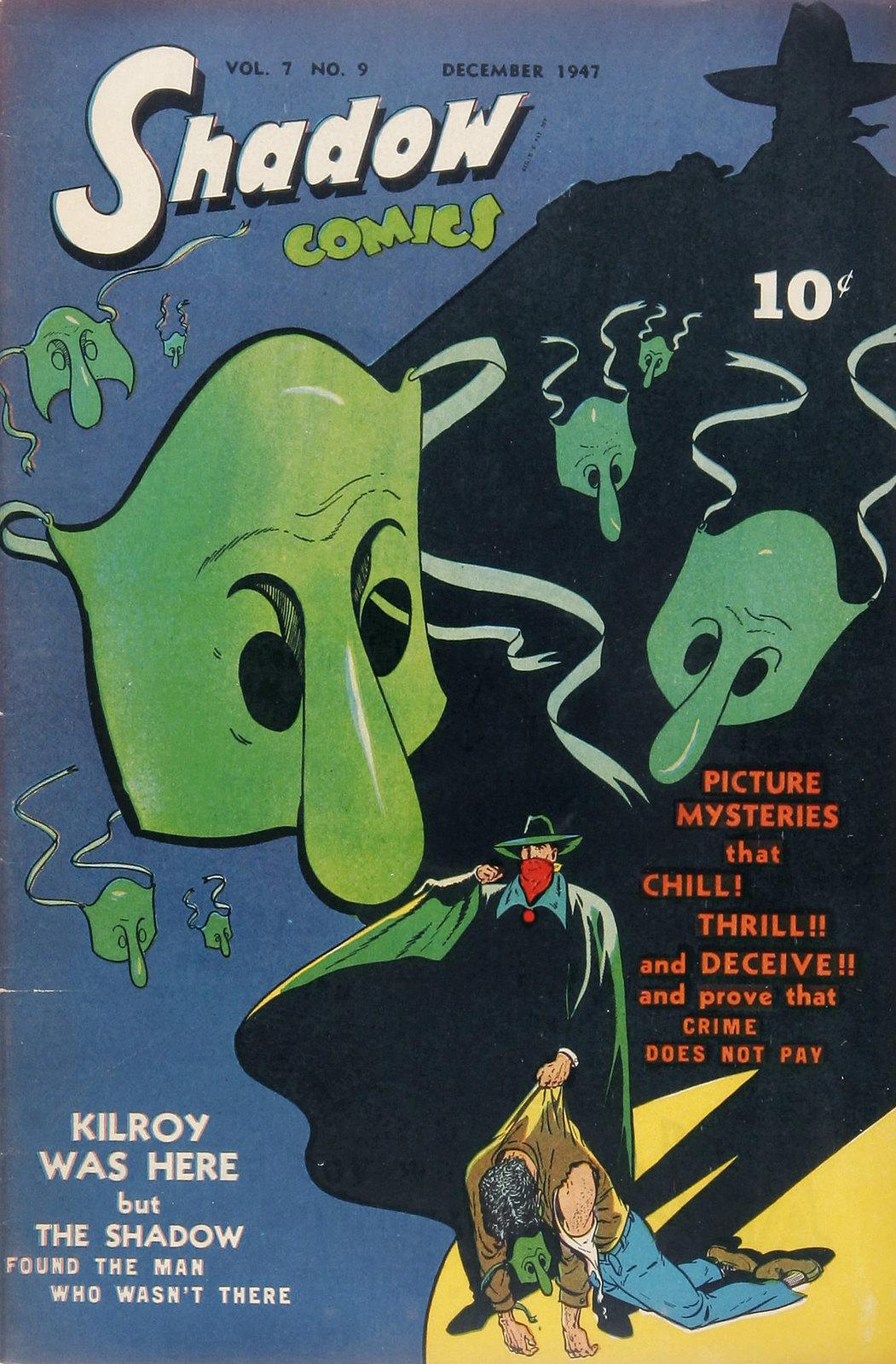 Shadow Comics V7#9 Mile High pedigree (Street & Smith, 1947) Bob Powell Cover