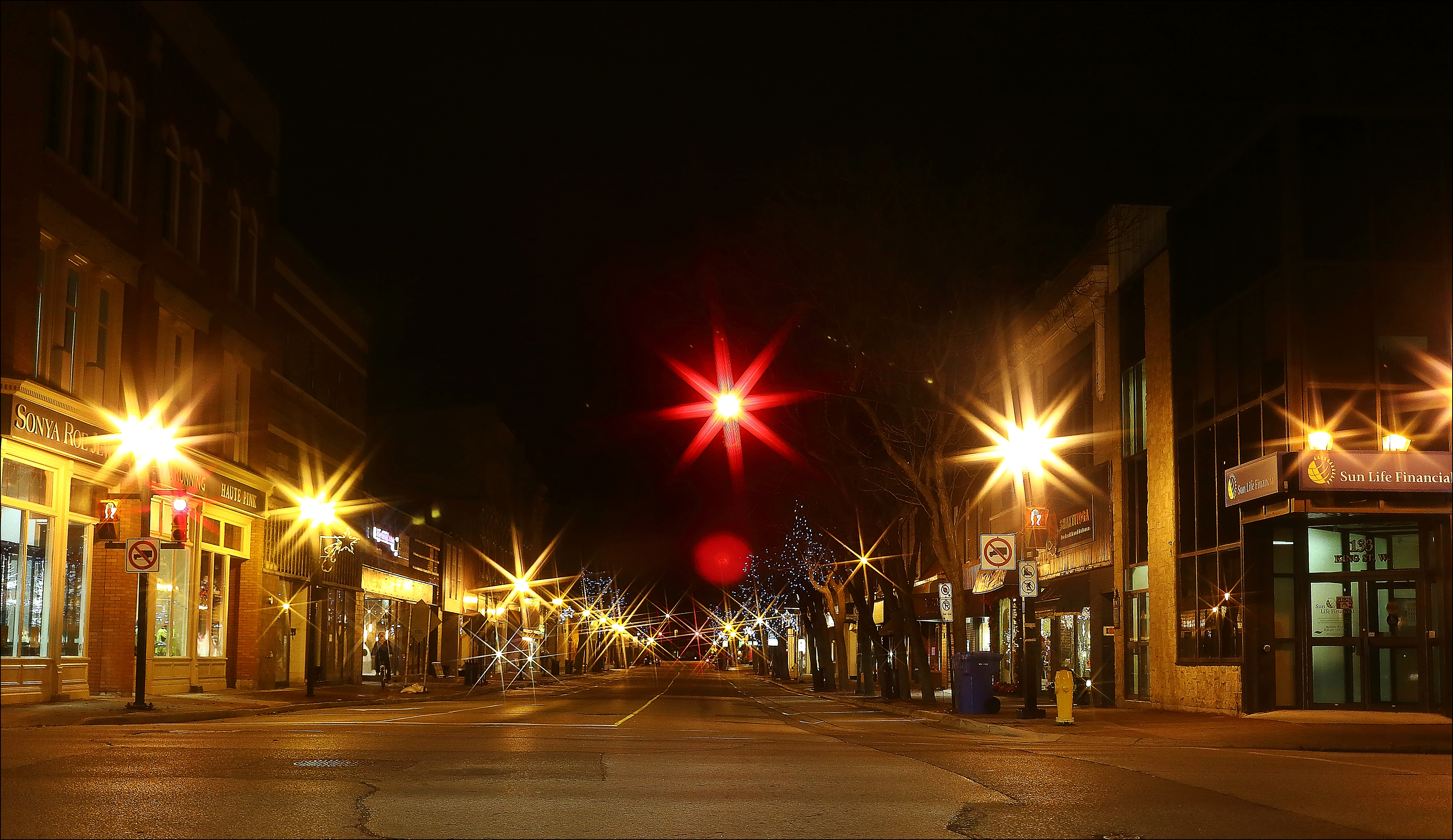 Quiet Streets On Christmas Night. christmas, streets, night, canon, lights, quiet, 6d, takenoutthewindow. buy photo