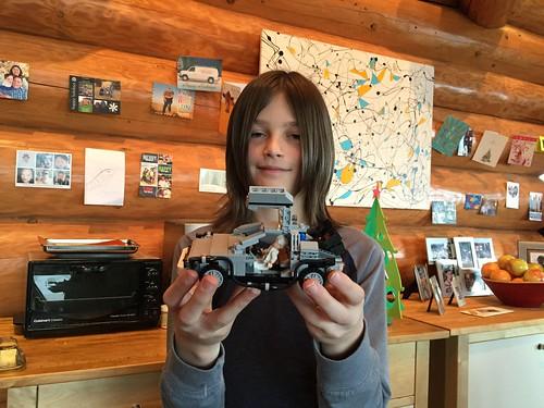 Nick and his lego Delorean