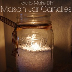 how to make a DIY Mason Jar Candle