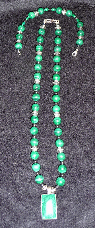Malachite Necklace Bracelet