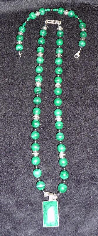 Malachite Necklace Bracelet