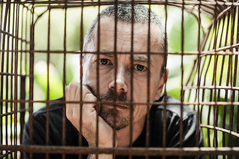 Australian celebrity chef Simon Bryant caged on Valentine's Day to promote moon bear freedom