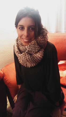Patricia & her infinity scarf