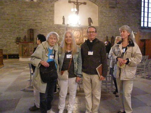 Karen, Vassula, Bo and Eve in the church of St. Bringitas