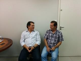 Paulinho da Força com Com Bebeto Haddad e Ricardo Mutran